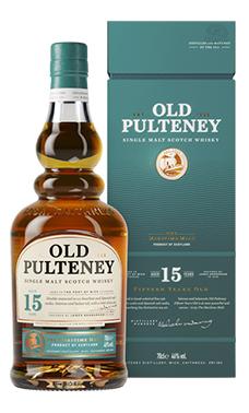 Old Pulteney 15 years, een goed gebalanceerde whisky.