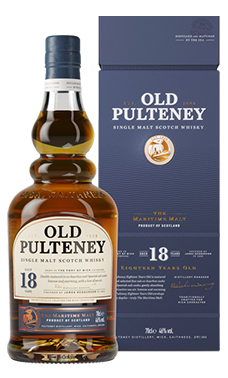 Old Pulteney 18, de oudste toevoeging aan het kernassortiment van deze distilleerderij.