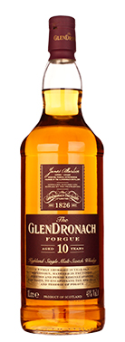Glendronach 10 years the Forgue, een nieuwe travel retail whisky.