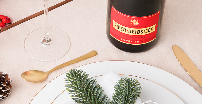 Piper Heidsieck Brut is heerlijk als aperitief, ideaal voor tijdens de feestdagen