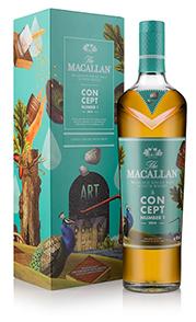De Macallan Concept No.1 fles is geïnspireerd op surrealistische kunst.