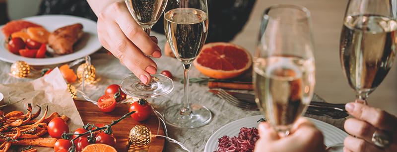 Champagne en eten? Een uitstekende combinatie