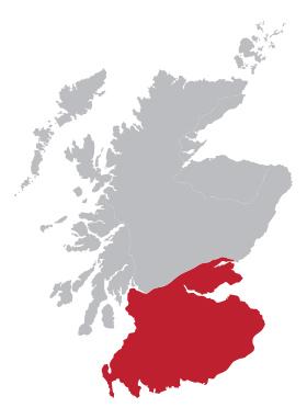 De Lowland regio van Schotland