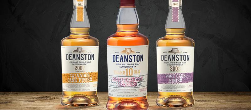 3 Deanston whisky's met interessante vatrijpingen