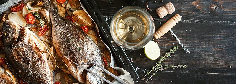 Chardonnay en vis